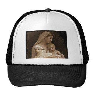 Bebé Jesús de Maria y cordero Gorro