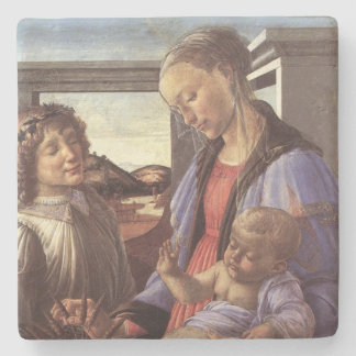 Bebé Jesús de Maria y navidad del vintage del Posavasos De Piedra