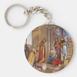 Bebé Jesús de Nazaret llevado en Belén Llavero Personalizado