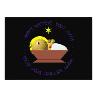 """Bebé Jesús del feliz cumpleaños Invitación 5"""" X 7"""""""