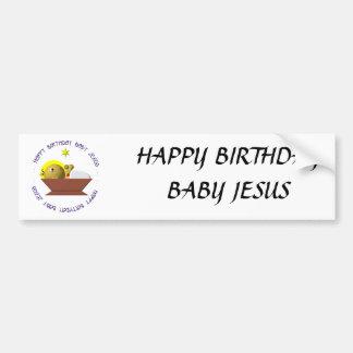 Bebé Jesús del feliz cumpleaños Pegatina Para Auto
