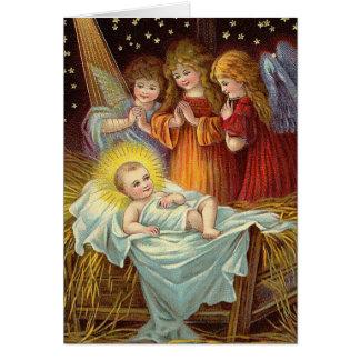 Bebé Jesús del navidad del vintage Tarjeta De Felicitación