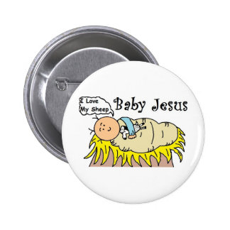 Bebé Jesús en botón del pesebre Pins