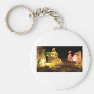 Bebé Jesús en hielo Llavero Redondo Tipo Pin