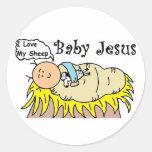 Bebé Jesús en pegatina del pesebre