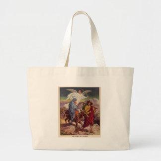 Bebé Jesús en su manera a Egipto Bolsas De Mano