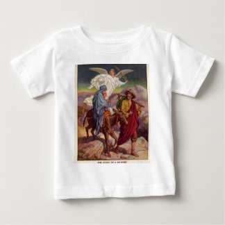 Bebé Jesús en su manera a Egipto Playeras