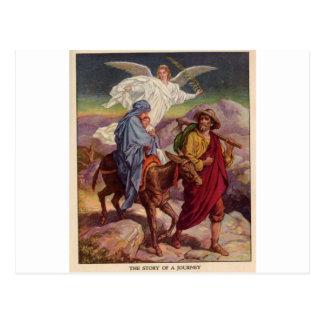 Bebé Jesús en su manera a Egipto Postal