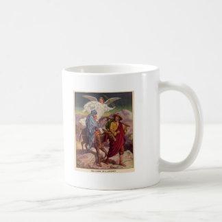 Bebé Jesús en su manera a Egipto Tazas