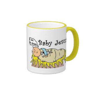 Bebé Jesús en taza del pesebre