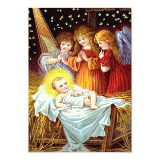 """Bebé Jesús Invitación 5"""" X 7"""""""