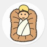 Bebé Jesús Pegatina