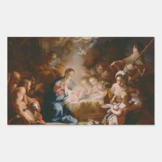 Bebé Jesús Pegatina Rectangular