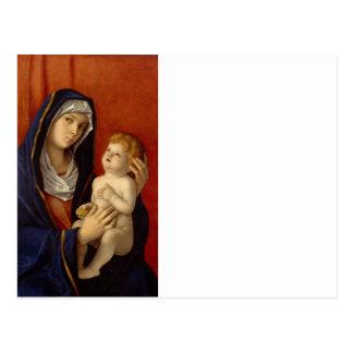 Bebé Jesús que sostiene la pera del oro Postales