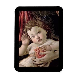 Bebé Jesús que sostiene Pompegranate Rectangle Magnet