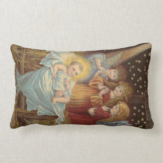 Bebé Jesús y almohada cruzada de la puntada de los