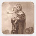 Bebé Jesús y madre Maria Colcomanias Cuadradass