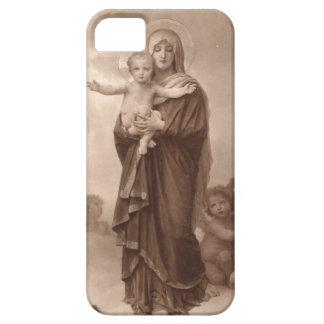 Bebé Jesús y madre Maria iPhone 5 Protectores