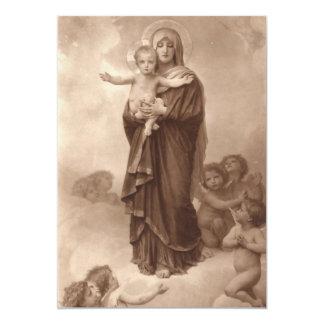 """Bebé Jesús y madre Maria Invitación 5"""" X 7"""""""