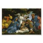 Bebé Jesús y Maria con los santos Impresión Fotográfica