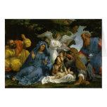 Bebé Jesús y Maria con los santos Tarjetas