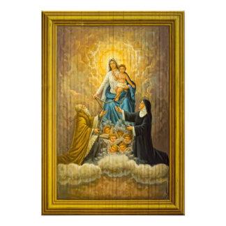 Bebé Jesús y Virgen María Cojinete