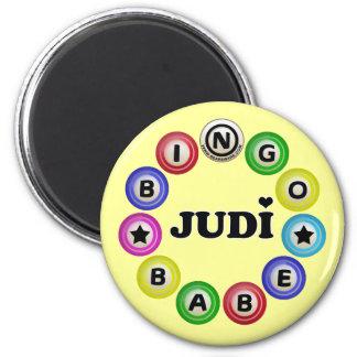 Bebé Judi del bingo Imán Redondo 5 Cm