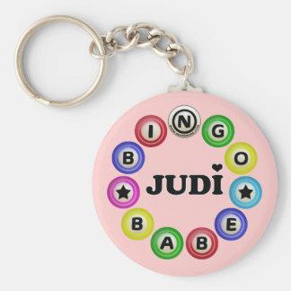 Bebé Judi del bingo Llavero Redondo Tipo Pin