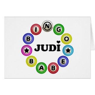 Bebé Judi del bingo Tarjeta De Felicitación
