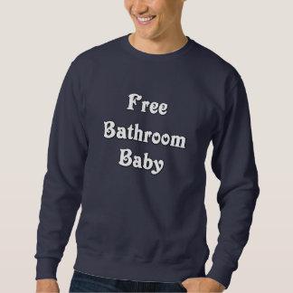 Bebé libre del cuarto de baño pull over sudadera