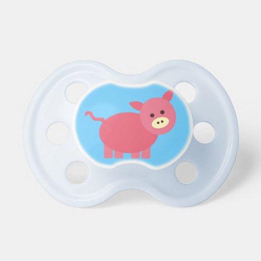 Bebé lindo Binky del cerdo Chupetes Para Bebes