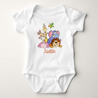 Bebé lindo de JUSTIN nombrado camisetas de los Poleras