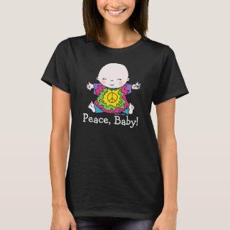 Bebé lindo de la paz del Hippie del teñido anudado Playera