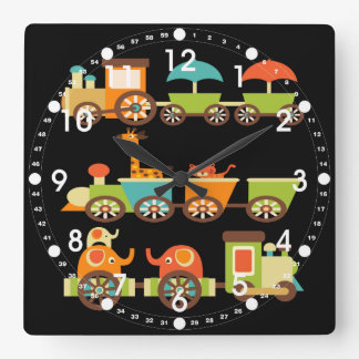Bebé lindo de los niños de los regalos del tren de reloj cuadrado