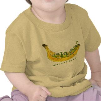 Bebé lindo del dibujo animado de los guisantes del camiseta