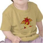Bebé lindo del dragón en el huevo agrietado - camiseta