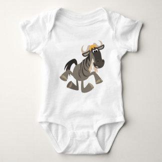 Bebé lindo del Wildebeest del baile de golpecito Mameluco De Bebé
