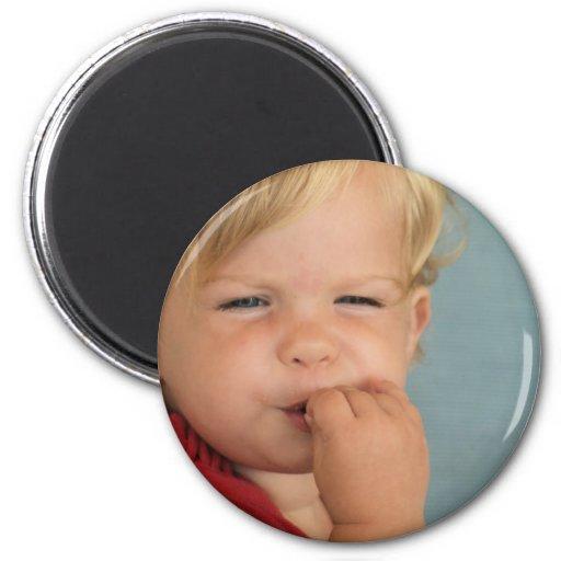 bebé lindo imán redondo 5 cm