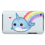 Bebé lindo narwhal y arco iris iPod Case-Mate protectores