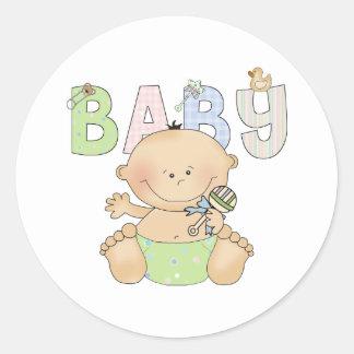 Bebé lindo pegatina redonda