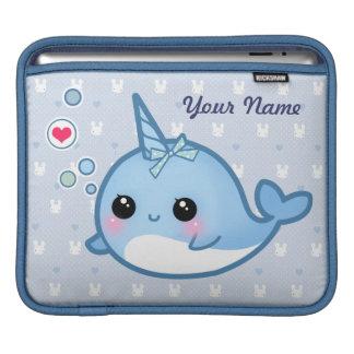 Bebé lindo personalizado narwhal manga de iPad