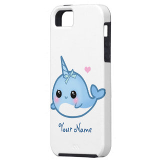 Bebé lindo personalizado narwhal funda para iPhone 5 tough