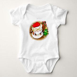 Bebé lindo Santa que adorna la camiseta Playeras