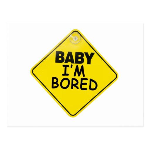 Bebé me aburren tarjeta postal
