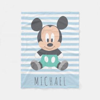 Bebé Mickey de Mickey Mouse el | - añada su nombre Manta Polar