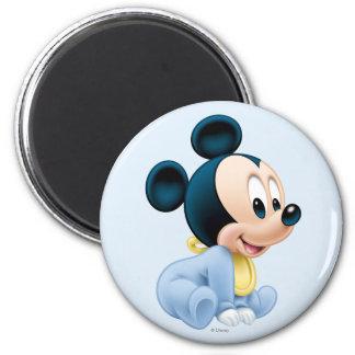 Bebé Mickey Mouse 2 Imán Redondo 5 Cm