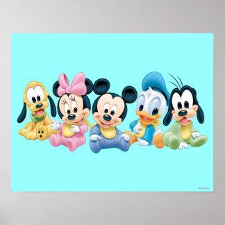 Bebé Mickey Mouse y amigos Poster