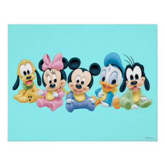 Bebé Mickey y amigos Póster