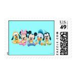 Bebé Mickey y amigos Sello Postal