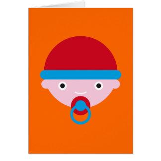 Bebé mimoso tarjeta de felicitación
